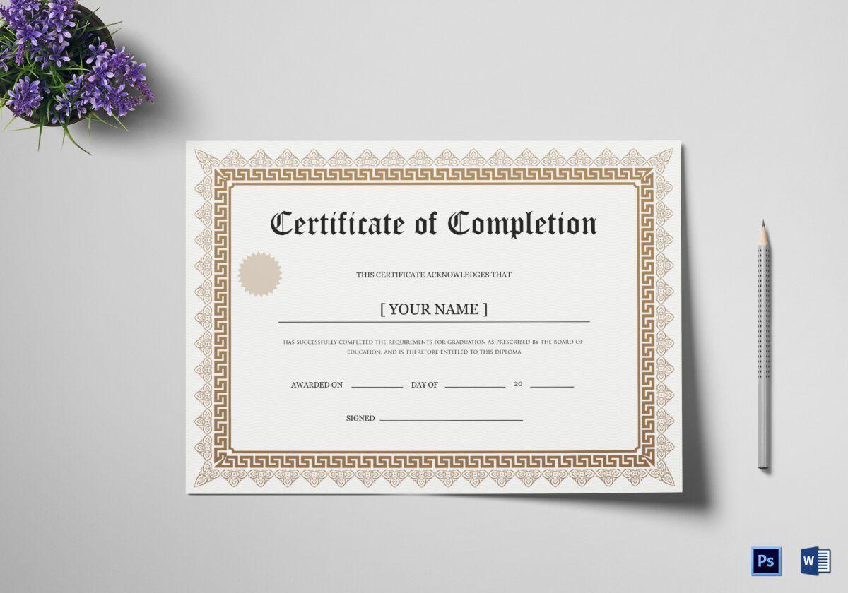 003 Fascinating Degree Certificate Template Word High Def Full