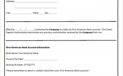 003 Fascinating Direct Deposit Agreement Authorization Form Template Sample