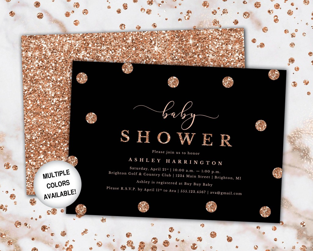 003 Fascinating Diy Baby Shower Invitation Template Image  Templates DiaperLarge
