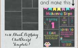 003 Fascinating First Birthday Chalkboard Template Image  Diy Printable Free