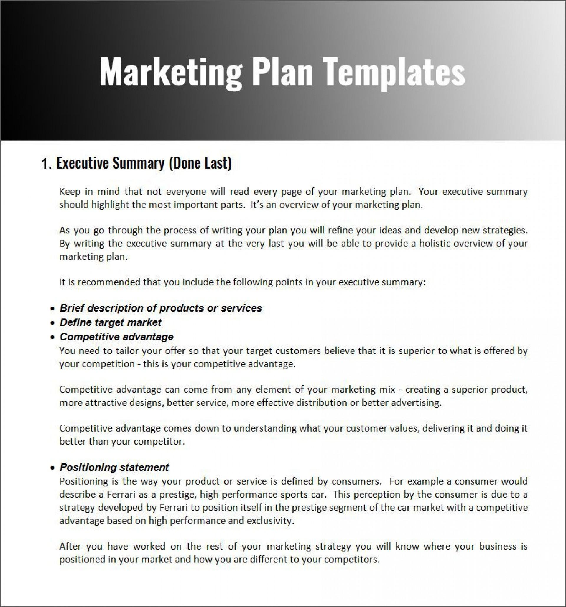 003 Fascinating Free Marketing Plan Template Word Photo  Digital Download1920