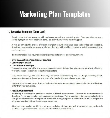 003 Fascinating Free Marketing Plan Template Word Photo  Digital Download360