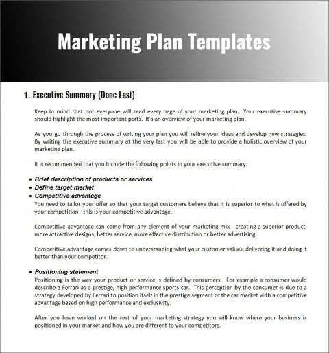 003 Fascinating Free Marketing Plan Template Word Photo  Digital Download480