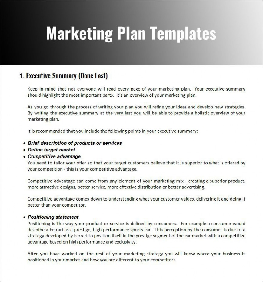 003 Fascinating Free Marketing Plan Template Word Photo  Digital Download868