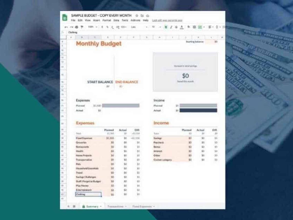 003 Fascinating Free Monthly Budget Template Google Doc Highest Clarity  DocsFull