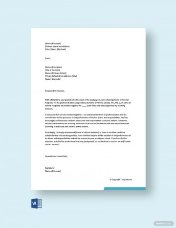 003 Fascinating Free Reference Letter Template Word Idea  Personal For Employment360