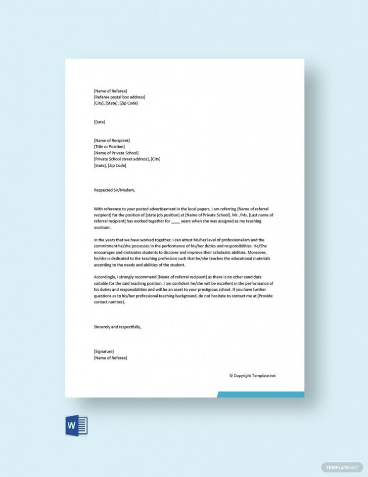003 Fascinating Free Reference Letter Template Word Idea  Personal For Employment728