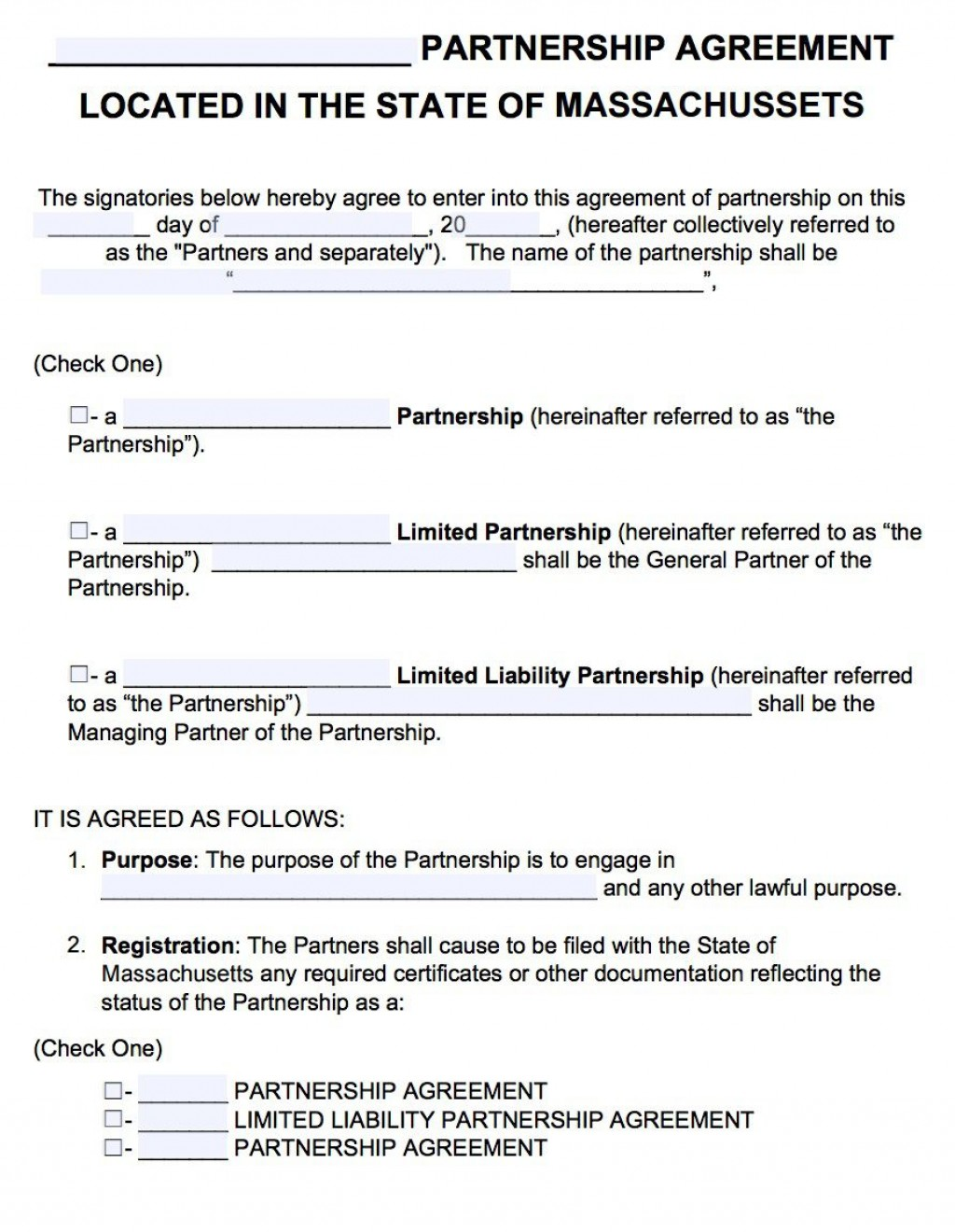 003 Fascinating General Partnership Agreement Template Concept  Word Canada Sample FreeLarge
