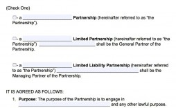 003 Fascinating General Partnership Agreement Template Concept  Word Canada Sample Free