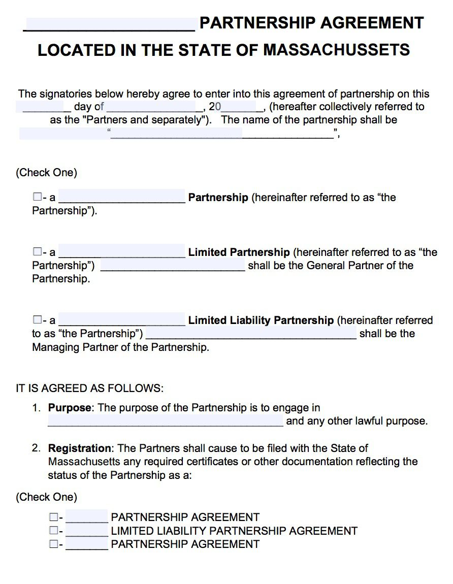 003 Fascinating General Partnership Agreement Template Concept  Word Canada Sample FreeFull