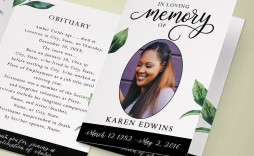 003 Fascinating In Loving Memory Template Word Concept