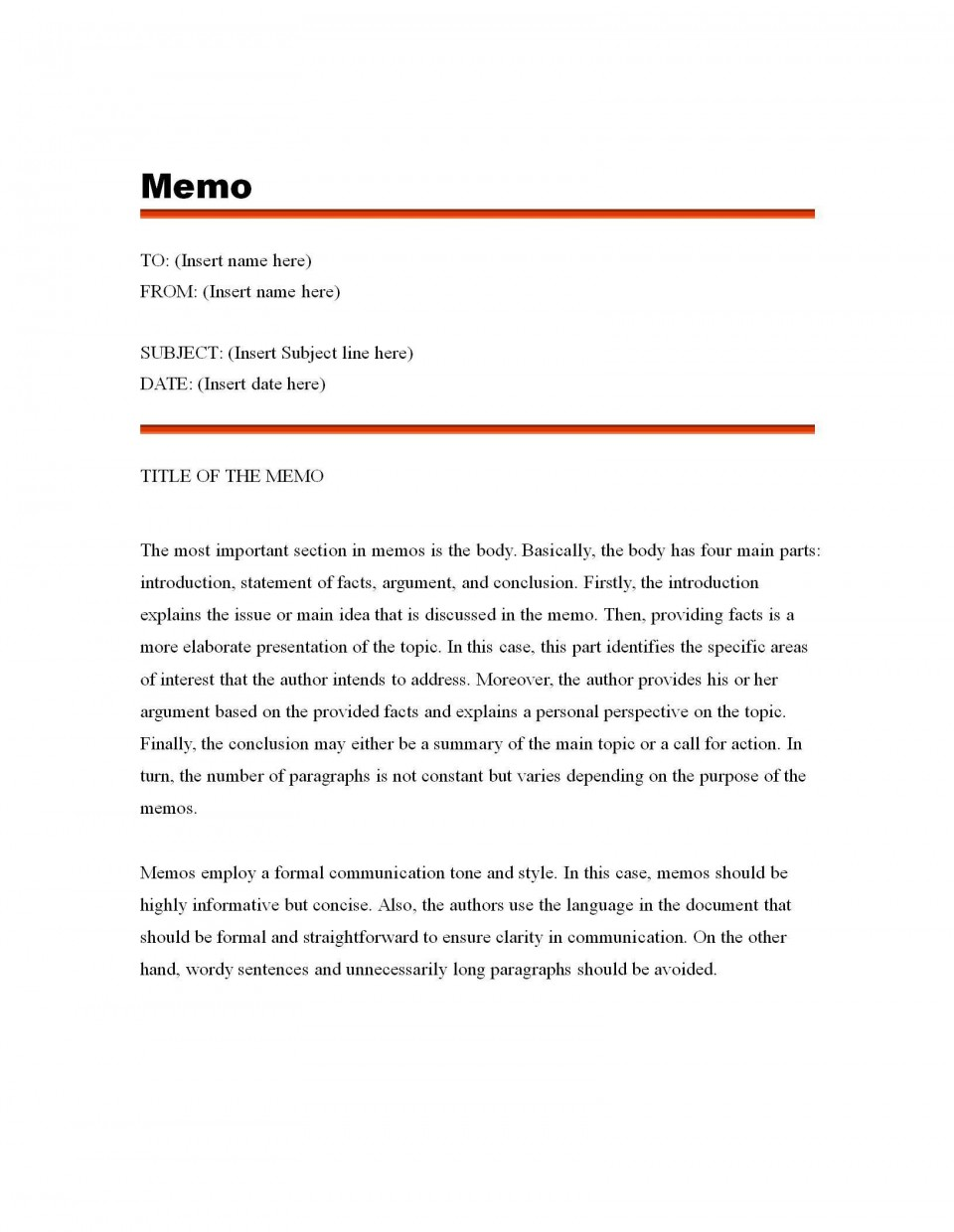 003 Fascinating Microsoft Word Memo Template Free Highest Quality  Download960