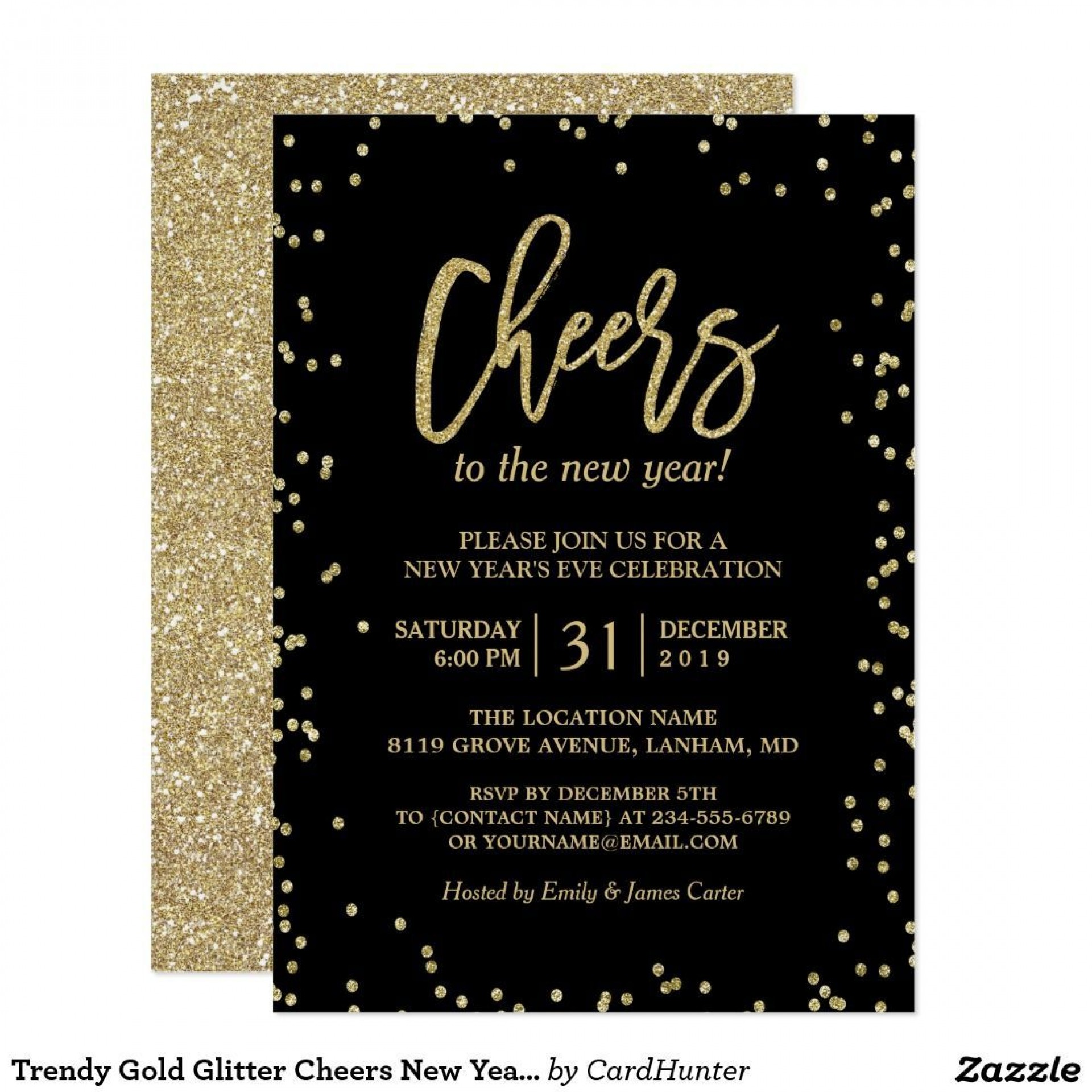 003 Fascinating New Year Eve Invitation Template High Definition  Party Free Word1920