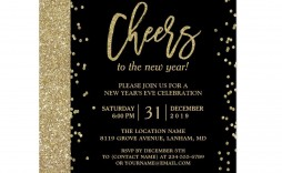 003 Fascinating New Year Eve Invitation Template High Definition  Party Free Word