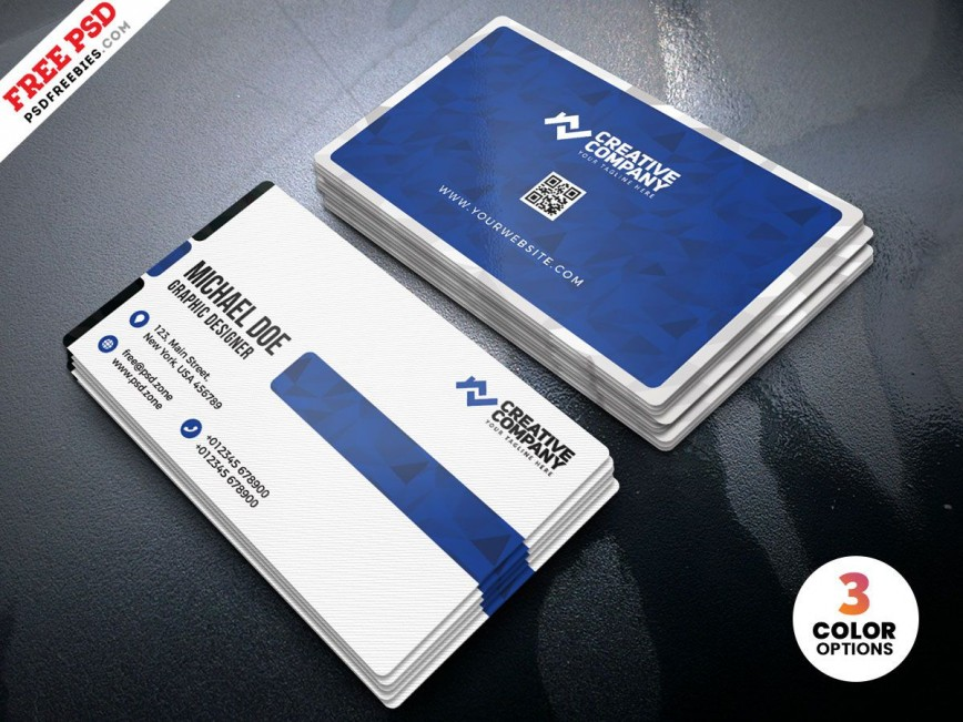 003 Fascinating Simple Visiting Card Design  Psd File Free Download In Photoshop