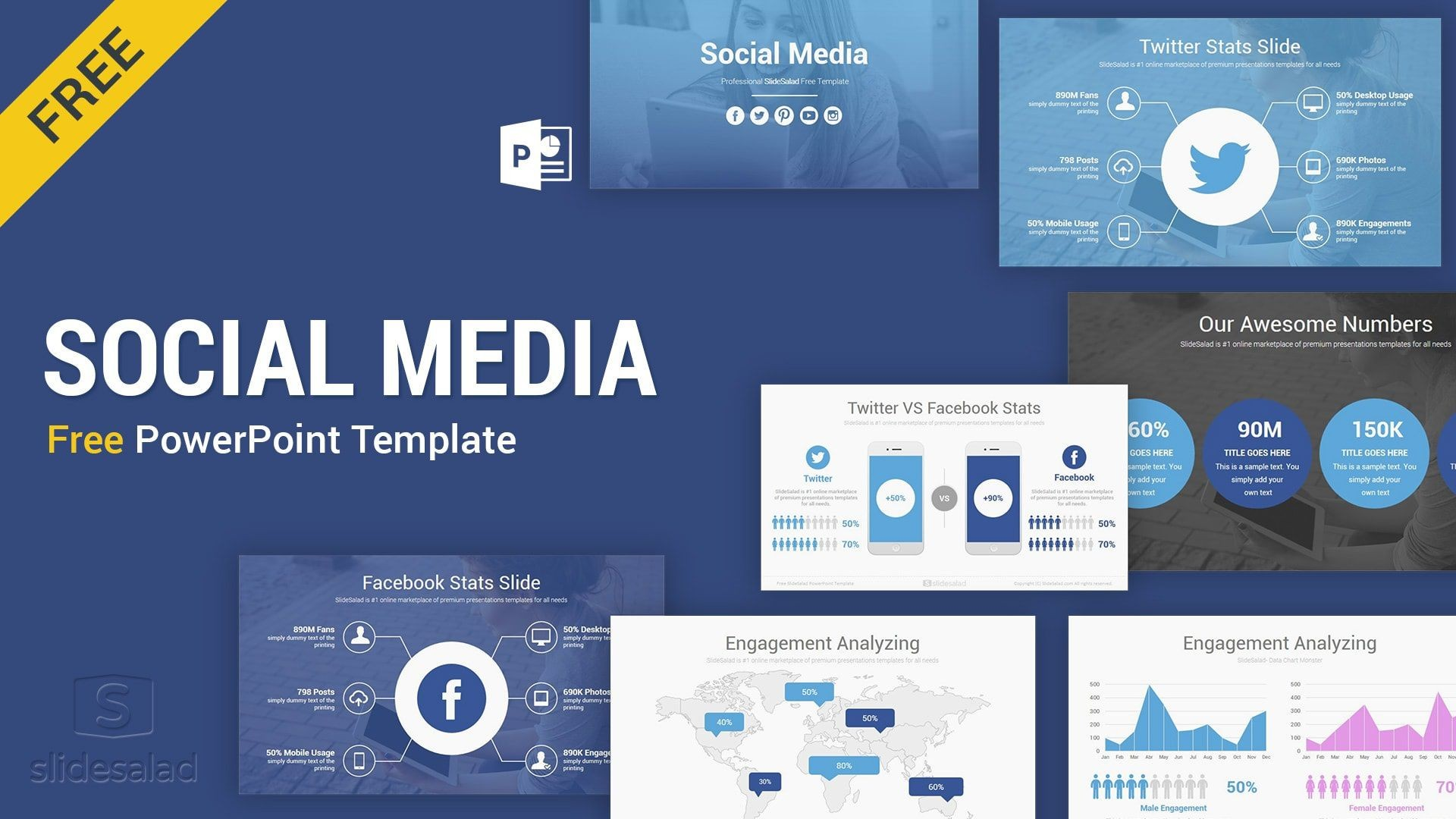 003 Fascinating Social Media Powerpoint Template Picture  Templates Report Free Social-media-marketing-powerpoint-template1920