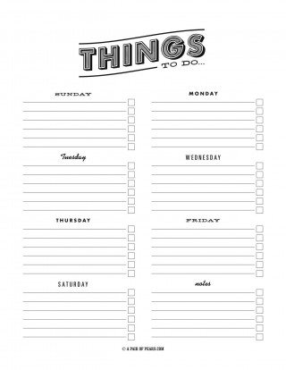 003 Fascinating To Do Checklist Template Image 320