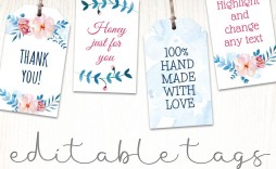 003 Fascinating Wedding Favor Tag Template Example  Templates Editable Free Party Printable