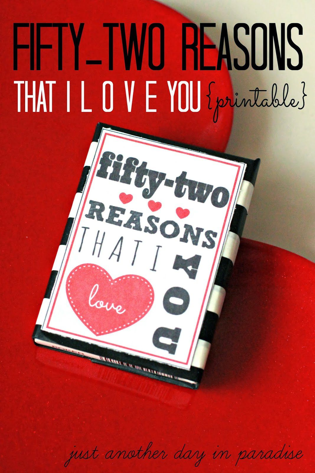 003 Fearsome 52 Reason Why I Love You Deck Of Card Free Template Highest Quality Full