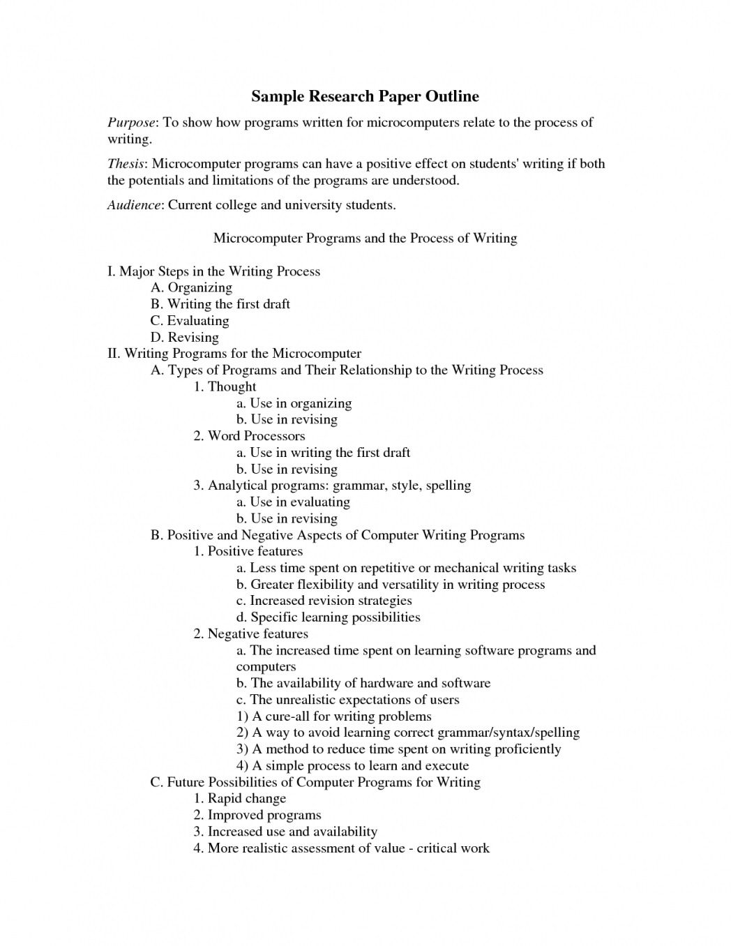 003 Fearsome Apa Research Paper Outline Template Highest Quality  Style Example WordFull