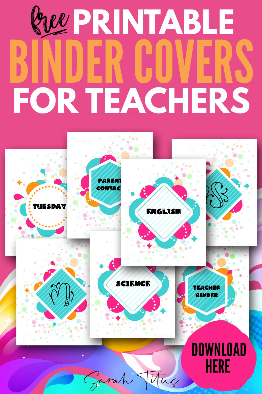 003 Fearsome Cute Binder Cover Template Free Printable Highest Clarity Full