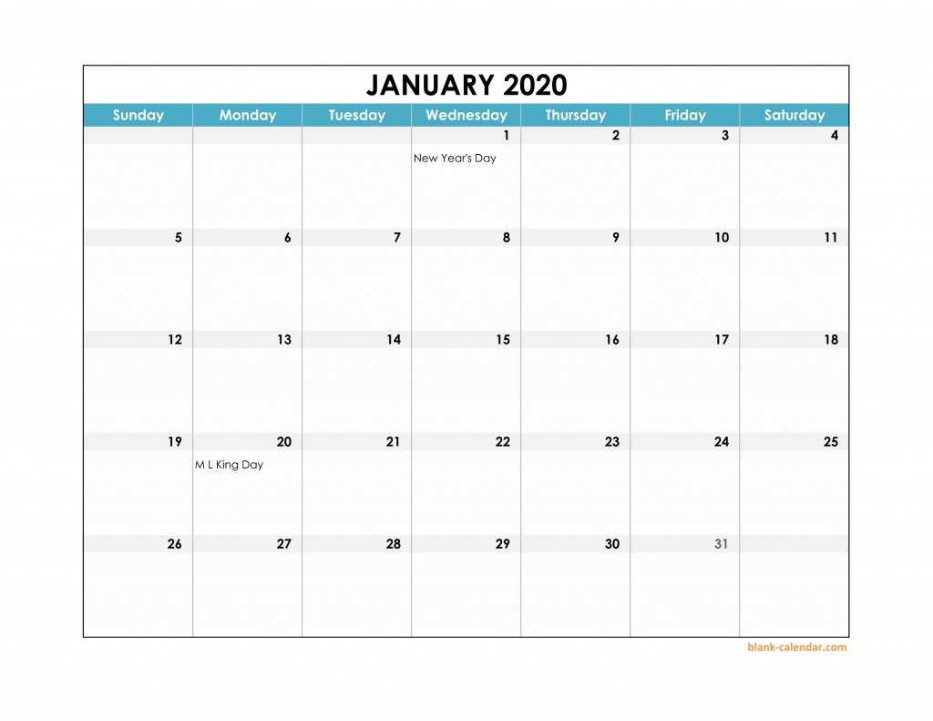 003 Fearsome Free Calendar Template Excel Highest Quality  Monthly 2020 Perpetual 2019Large