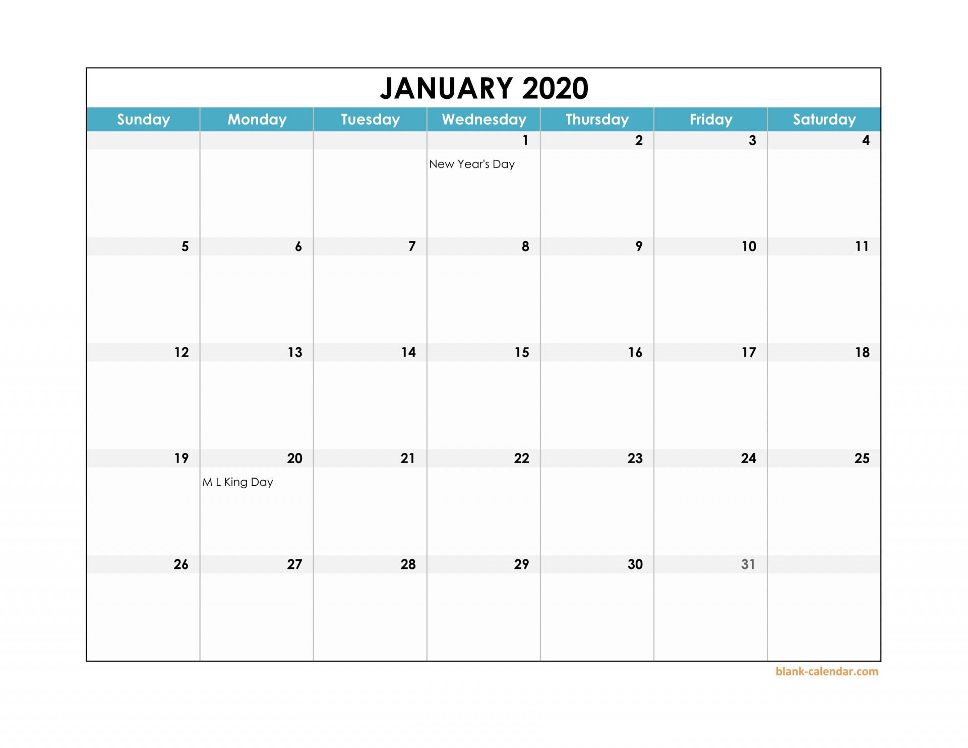 003 Fearsome Free Calendar Template Excel Highest Quality  Monthly 2020 Perpetual 20191920