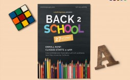 003 Fearsome Free School Flyer Design Template Photo  Templates Creative Education Poster