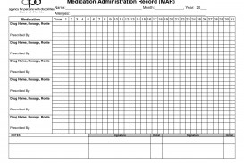 003 Fearsome Medication Administration Record Template Pdf Highest Quality  Simple Free