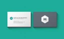 003 Fearsome Minimal Busines Card Template Free High Resolution  Easy Simple Download