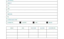 003 Fearsome New Customer Account Setup Form Template Concept  Word Client