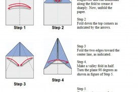 003 Fearsome Printable Simple Paper Airplane Instruction Highest Clarity  Plane