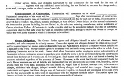 003 Fearsome Residential Construction Contract Template High Def  House Agreement Pdf