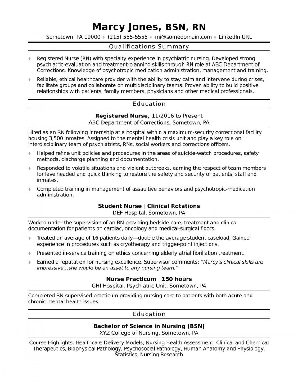 003 Fearsome Rn Graduate Resume Template Highest Clarity  New Grad Nurse960