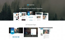 003 Fearsome Social Media Web Template High Def  Templates Best Website Free Download