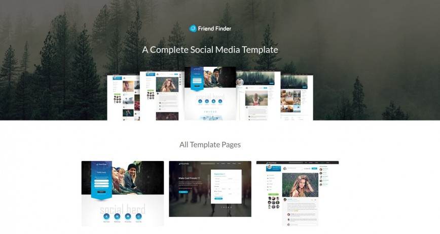 003 Fearsome Social Media Web Template High Def  Templates Networking Free Download Website