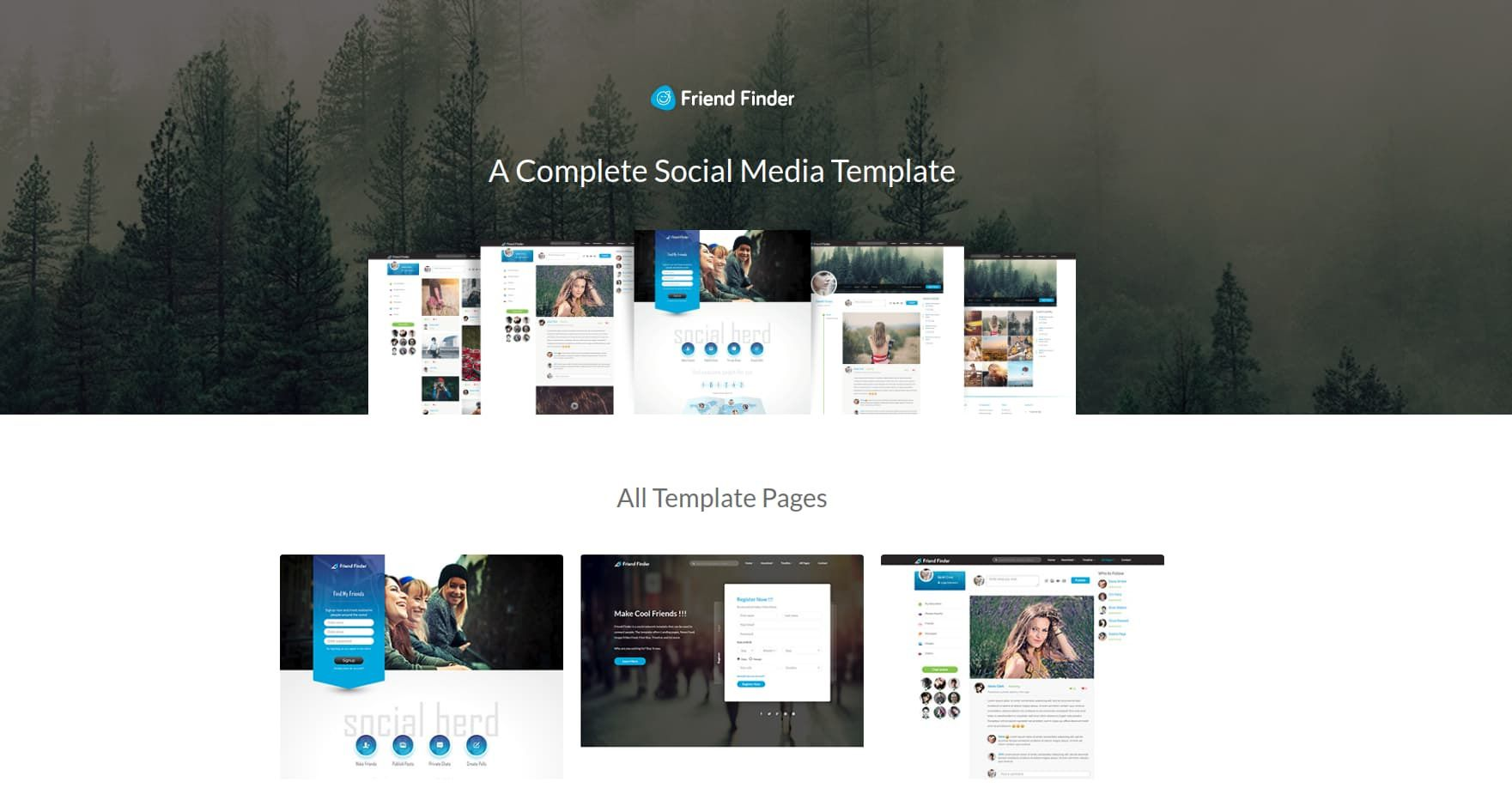 003 Fearsome Social Media Web Template High Def  Templates Best Website Free DownloadFull