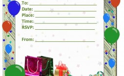 003 Formidable Birthday Invitation Card Word Format Photo  Template Free