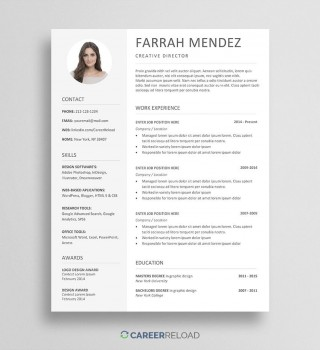 003 Formidable Download Resume Template Word 2007 Highest Clarity 320