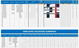 003 Formidable Employee Calendar Template Excel Example  Staff Leave Vacation Planner