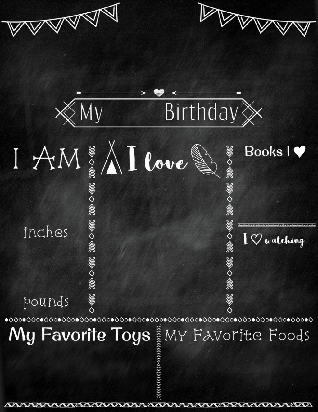 003 Formidable Free Birthday Chalkboard Template Concept  First Printable BabyLarge