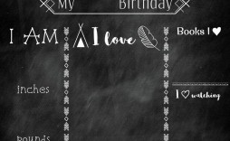 003 Formidable Free Birthday Chalkboard Template Concept  First Printable Baby