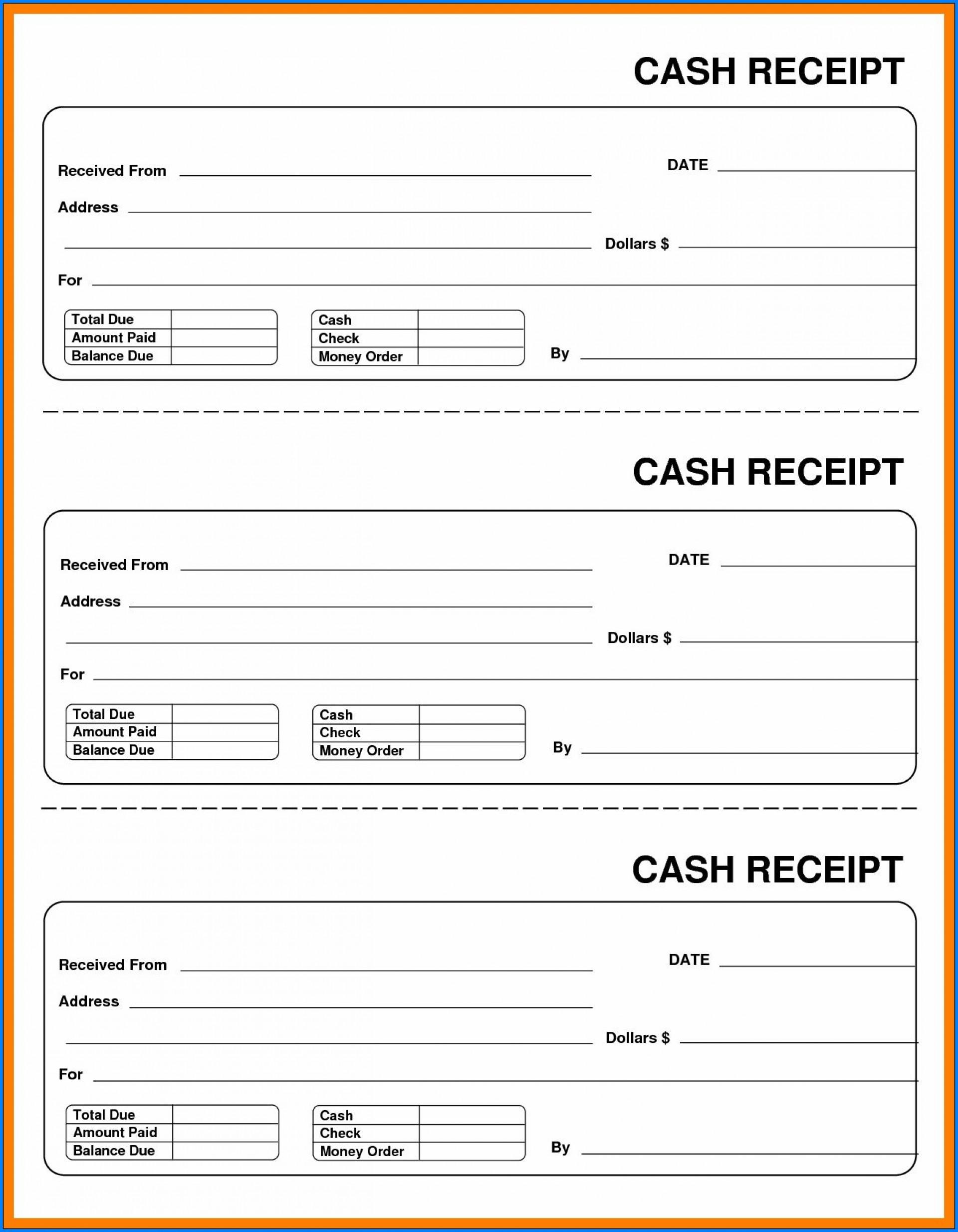 003 Formidable Free Printable Receipt Template Photo  Blank Cash Microsoft Word Uk1920