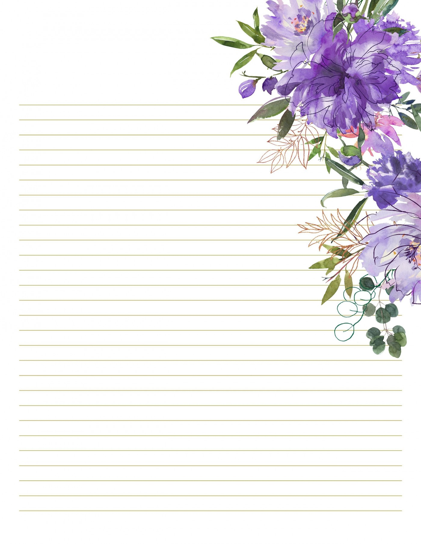 003 Formidable Free Printable Stationery Paper Template Photo 1400