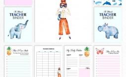 003 Formidable Free Printable Teacher Binder Template High Resolution  Templates