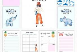003 Formidable Free Printable Teacher Binder Template High Resolution