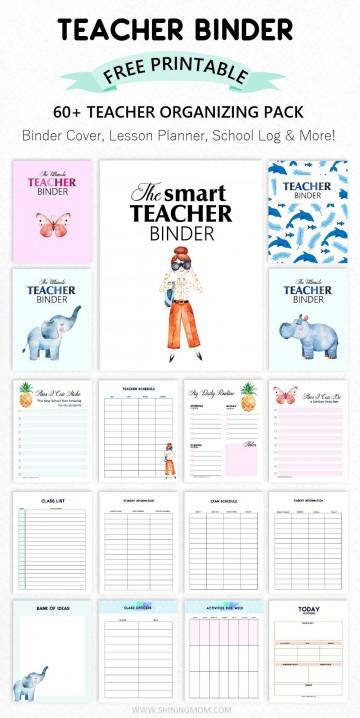 003 Formidable Free Printable Teacher Binder Template High Resolution 360