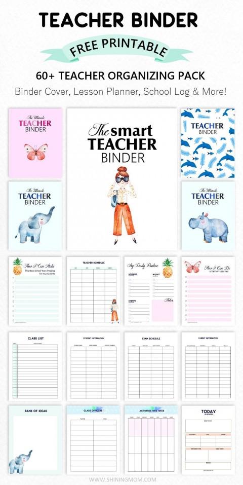 003 Formidable Free Printable Teacher Binder Template High Resolution 480