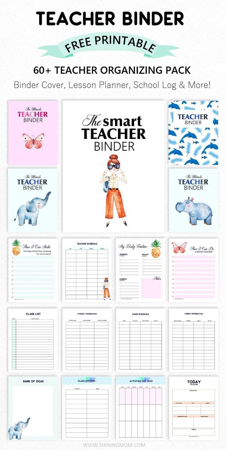 003 Formidable Free Printable Teacher Binder Template High Resolution 728