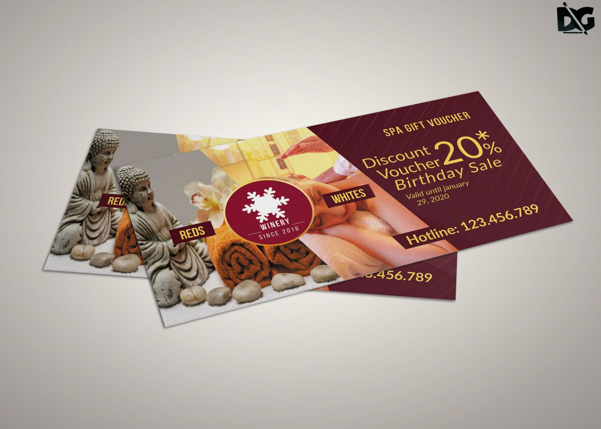 003 Formidable Gift Card Template Psd Example  Christma Photoshop Free Holder1920